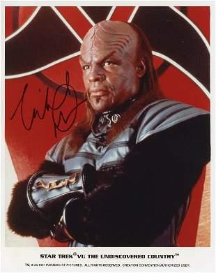 Michael Dorn signed Star Trek photo