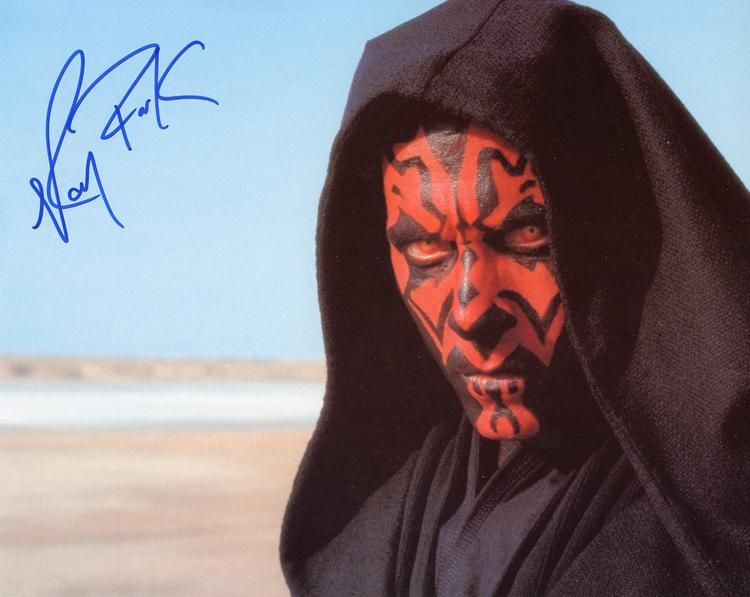 Ray Park Star Wars signed phot
