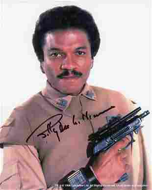 Billy Dee Williams signed Star Wars photo