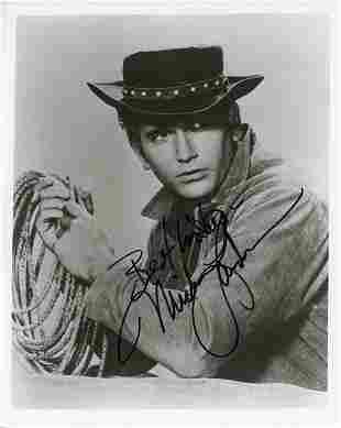 Michael Landon signed Bonanza photo