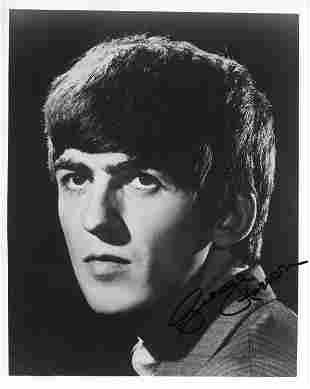 George Harrison Beatles signed photograph
