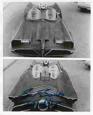 George Barris Batmobile signed photo