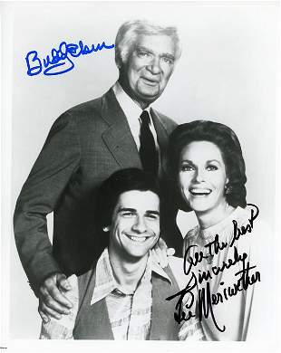 Barnaby Jones cast signed photo