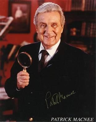 Patrick MacNee signed photo