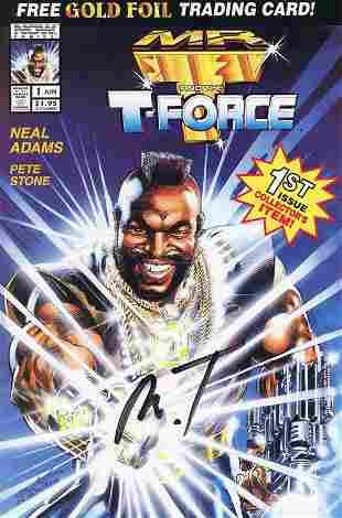 Mr T signed comic book