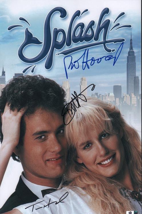 SPLASH cast signed 11x17 poster