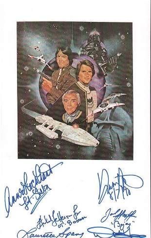 Battlestar Galactica cast signed item