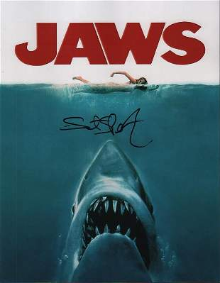 Steven Spielberg JAWS signed 11x14 photograph