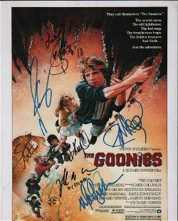 The Goonies poster cast signed