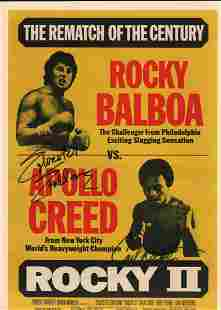 ROCKY II poster signed