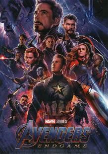 Avengers Endgame premiere poster cast signed