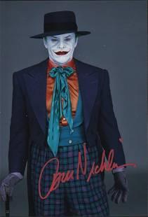 Jack Nicholson Joker signed photograph