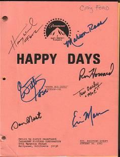 A SET used original Happy Days script signed by Craig