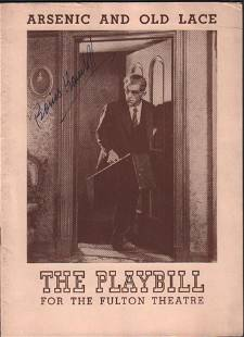 An early Broadway playbill for Arsenic and Old Lace