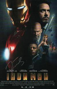An original 11x17 premiere poster signed by Robert