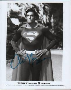 An original still from Superman III signed by the