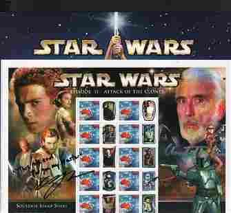 Star Wars stamps signed