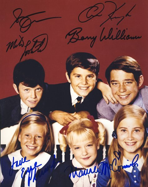 "Child Cast of ""The Brady Bunch"" Signed 8x10 Photo"