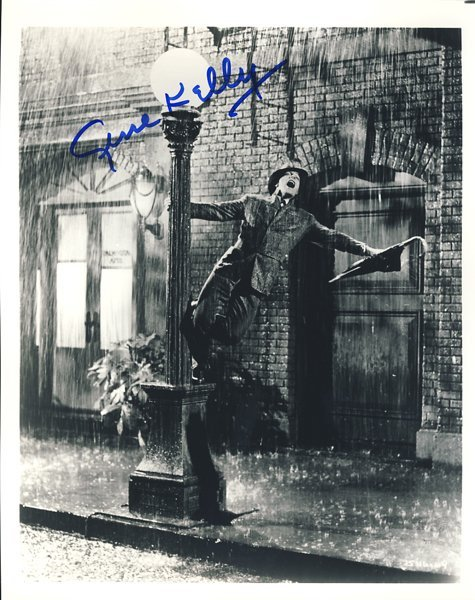 "Gene Kelly ""Singin' in the Rain"" Signed 8x10 Photo"