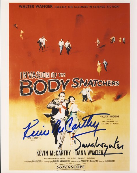 "Kevin McCarthy and Dana Wynter Signed ""Invasion of the"