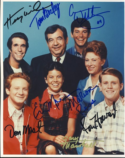 "The Cast of ""Happy Days"" Signed 8x10 Photograph"