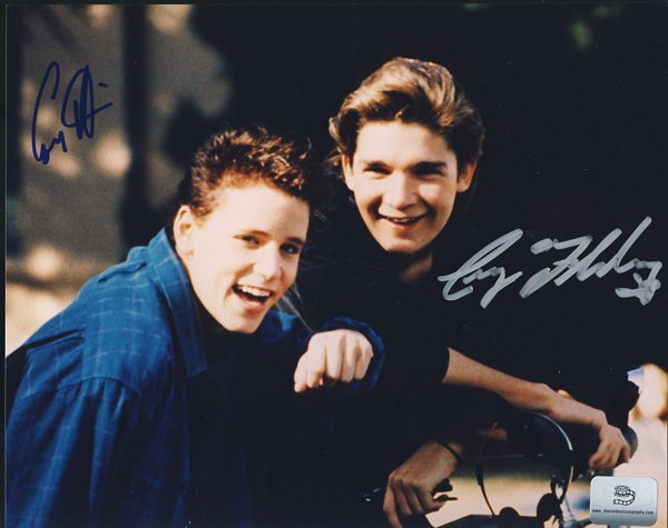 Corey Haim and Corey Feldman Signed 8x10 Photograph