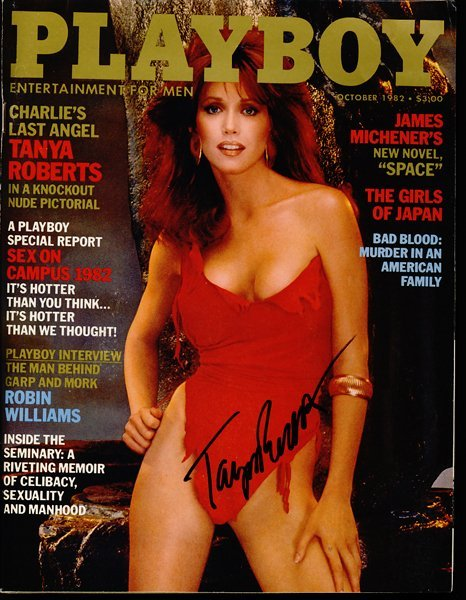 Tanya Roberts Signed Playboy Magazine