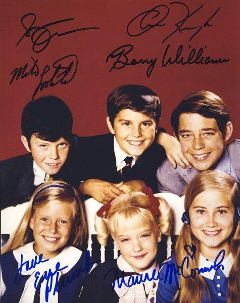 "Child Cast of ""The Brady Bunch"" Signed 8x10 Photo"