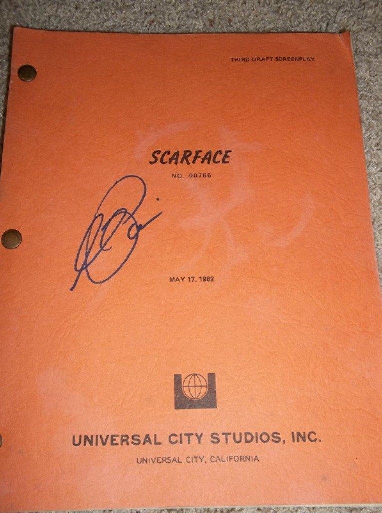"Al Pacino Signed Set Used ""Scarface"" Script"