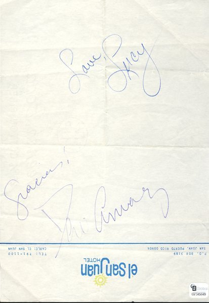 Lucille Ball and Desi Arnaz Signatures