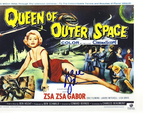 """""""Queen of Outer Space"""" 8x10 Photograph Signed by Zsa Zs"""