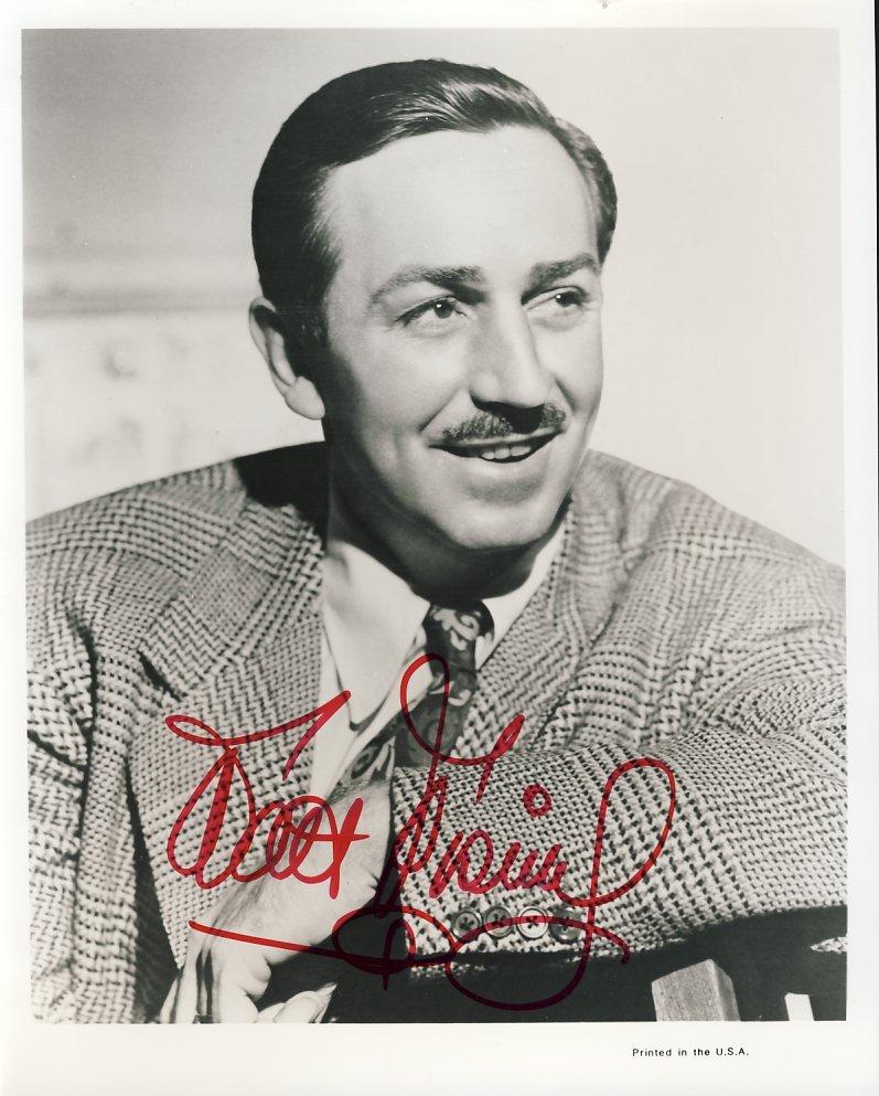 Walt Disney Vintage 60s Signed Photograph