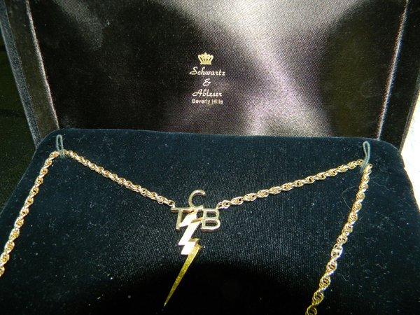 Elvis Presley TCB Gifted Necklace Schwartz In Box