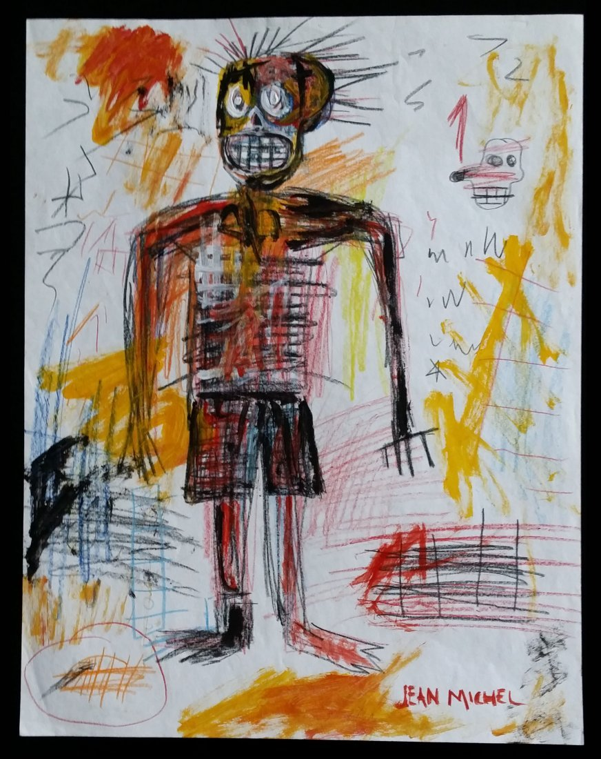 Jean Michel Basquiat Drawing (untitled)
