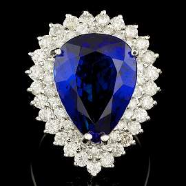$65700 CERTIFIED 18K WHITE GOLD 15.00CT TANZANITE