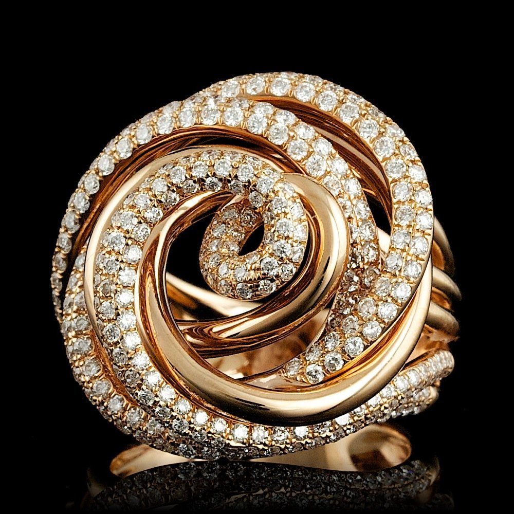 18k Rose Gold 2.10ct Diamond Ring