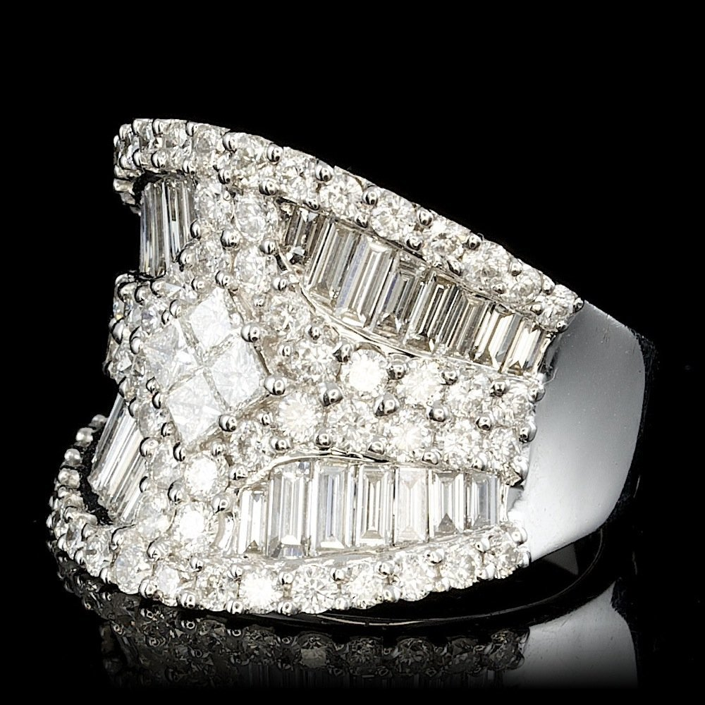 18k White Gold 3.45ct Diamond Ring