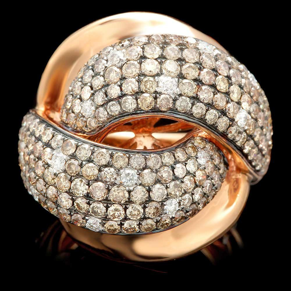 18k Rose Gold 3.15ct Diamond Ring