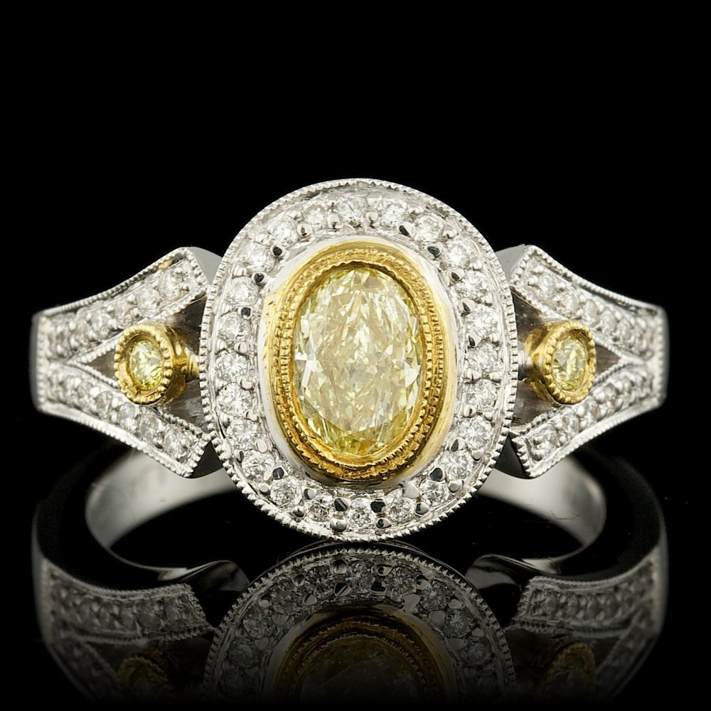 18k Multi-Tone Gold .77ct Diamond Ring