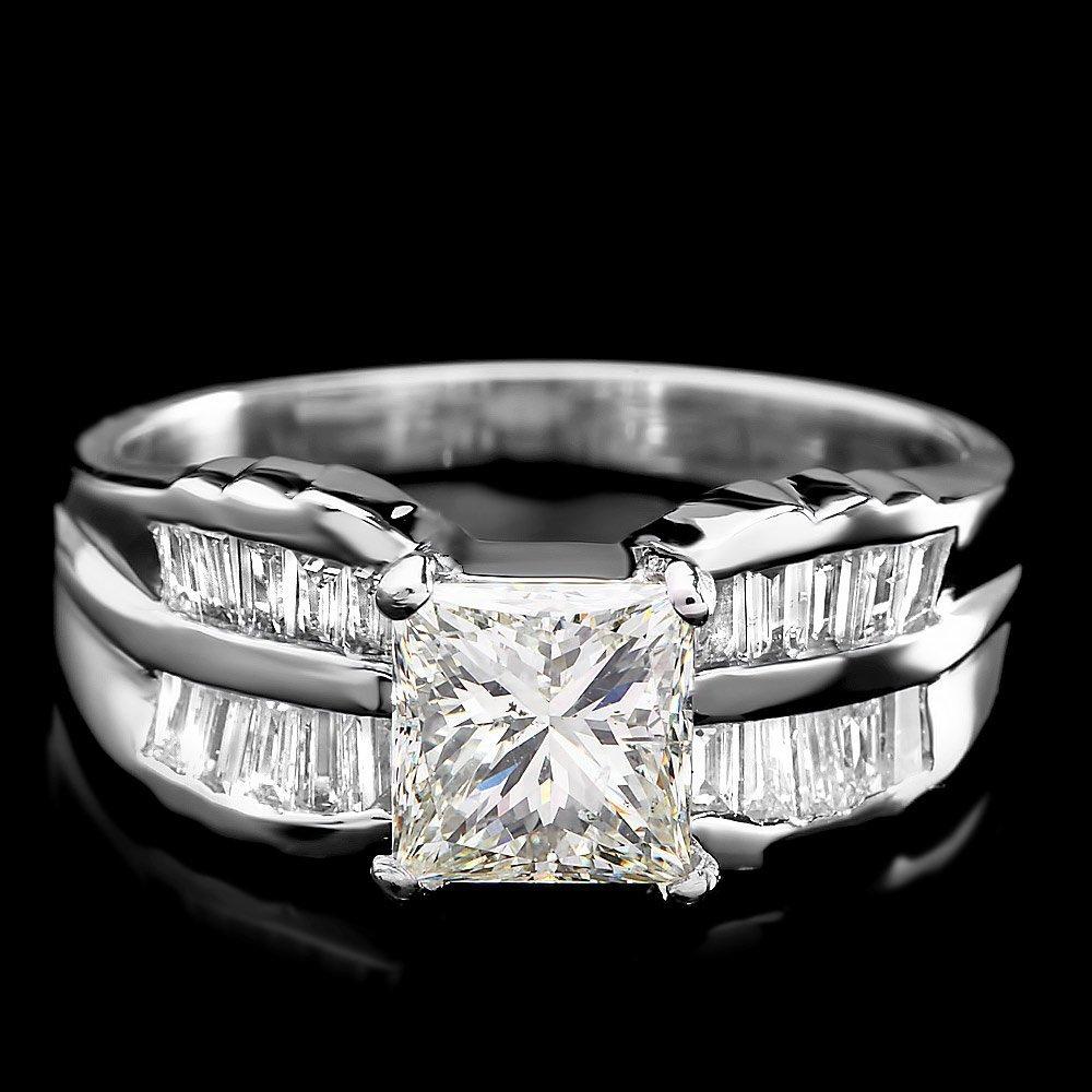 14k White Gold 2ct Diamond Ring