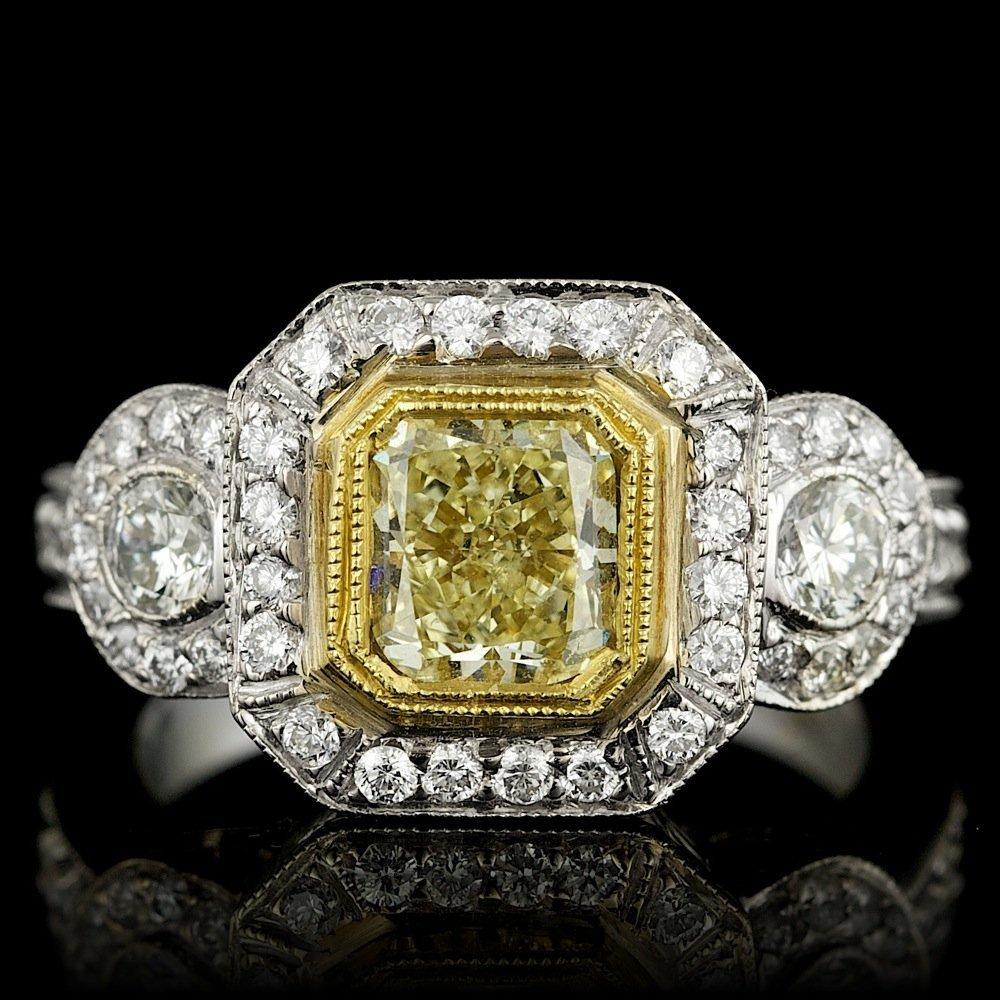 EGL 18k Multi-Tone Gold 2.19ct Diamond Ring