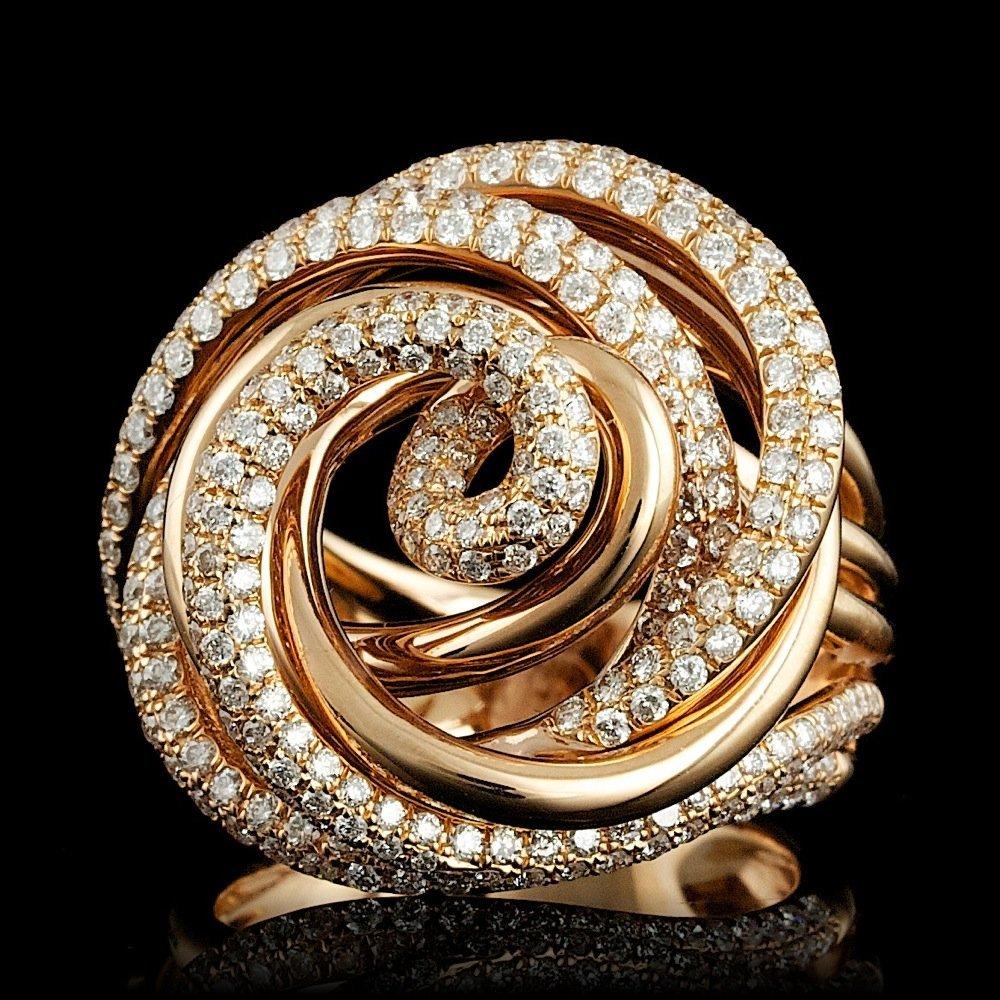 18k Rose Gold 2.10ct Diamond Ring