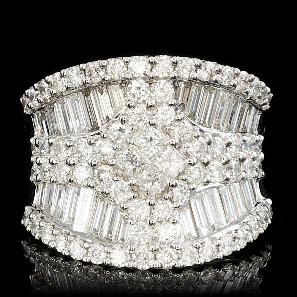 18k White Gold 3.45ct Diamond Ring