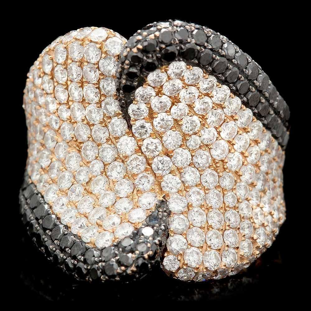 18k Rose Gold 4.9ct Diamond Ring