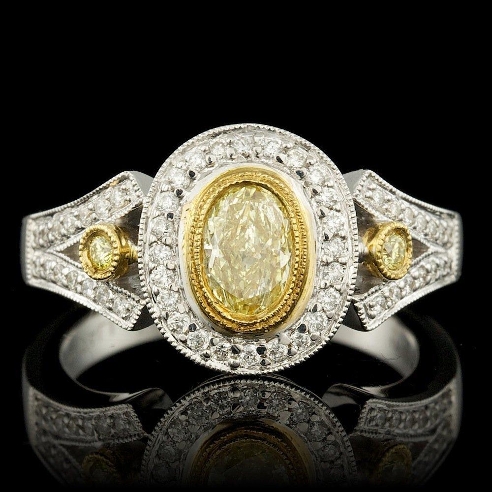 18k Multi-Tone Gold .77ct Diamond Ring