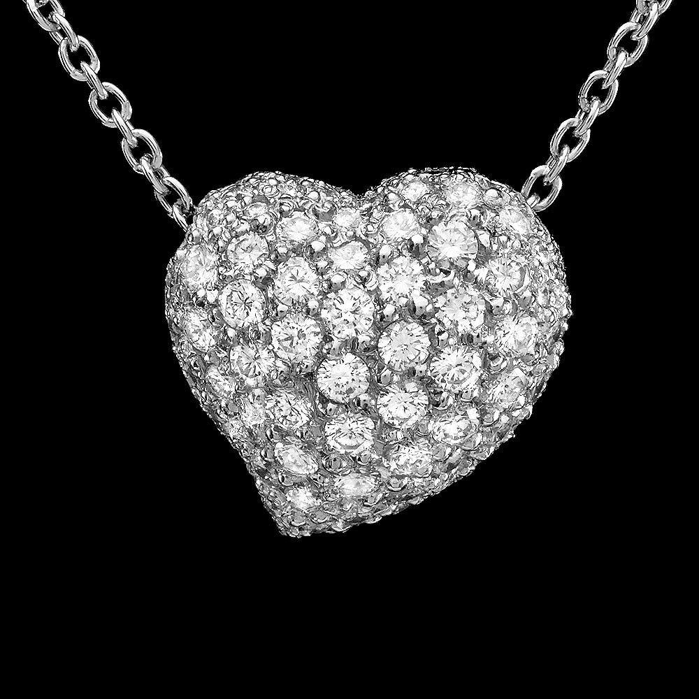 18k Multi-Tone Gold 1.5ct Diamond Pendant