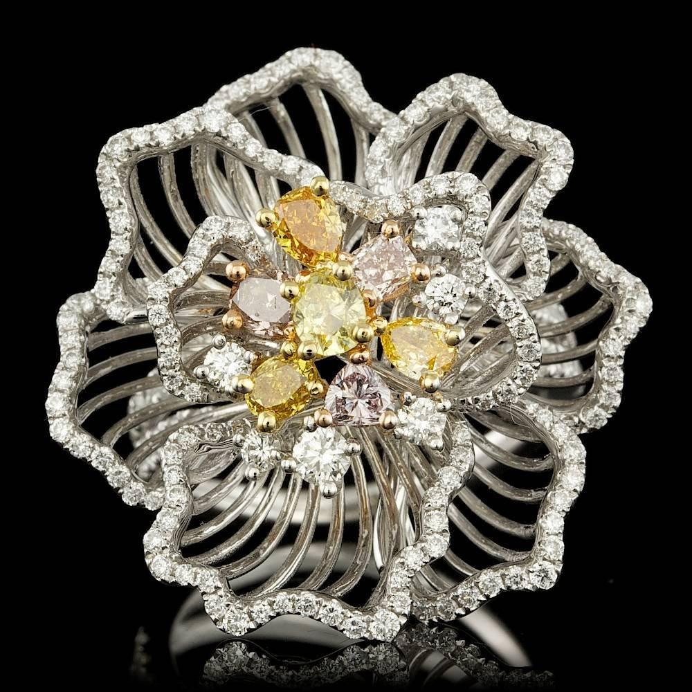 18k Multi-Tone Gold 2.2ct Diamond Ring