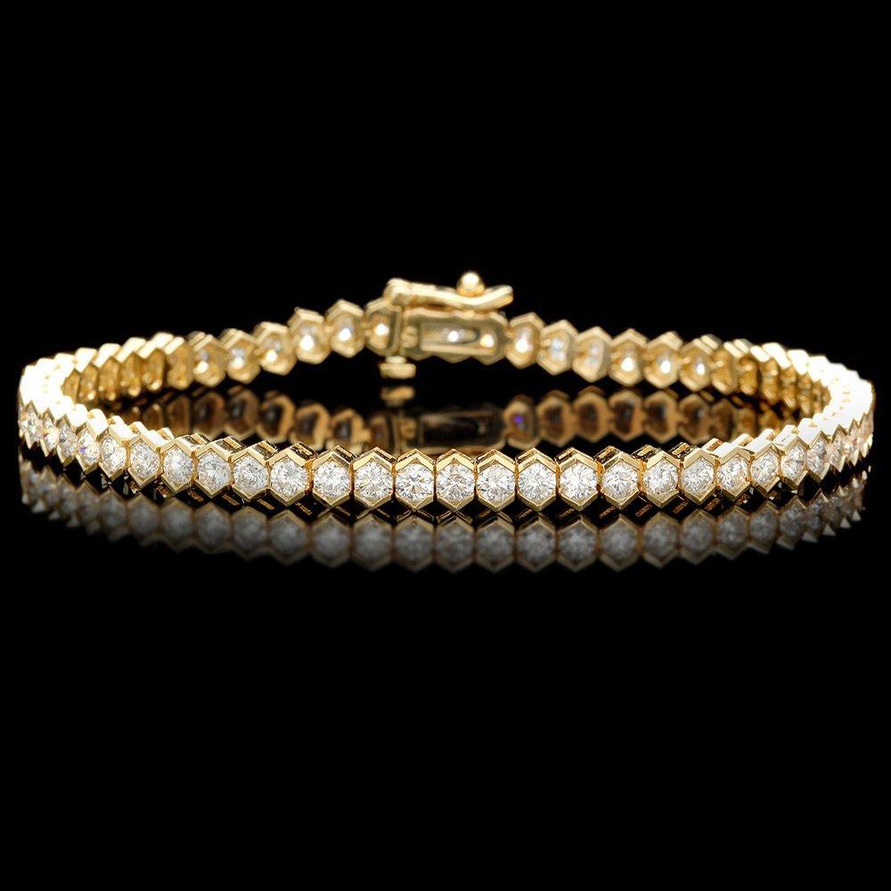 14k Yellow Gold 5.00ct Diamond Bracelet