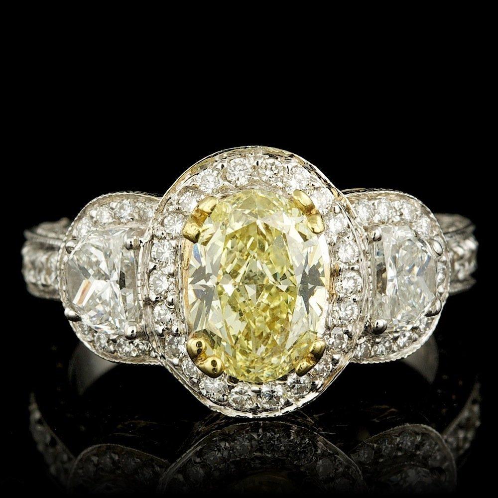 18k Multi-Tone Gold 2.57ct Diamond Ring