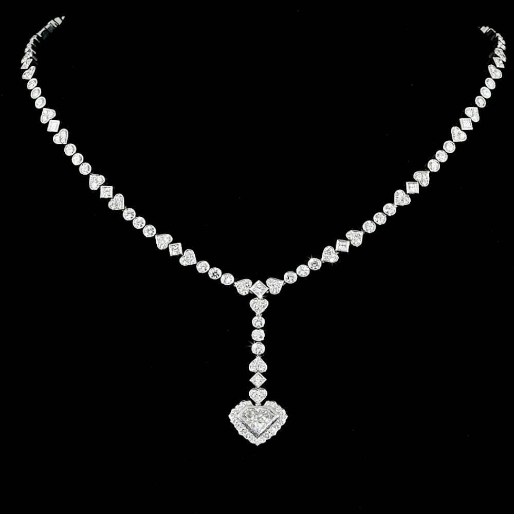 18k White Gold 10ct Diamond Necklace